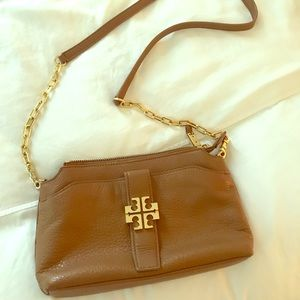 Tory Burch Crossbody or Clutch Brown and Gold